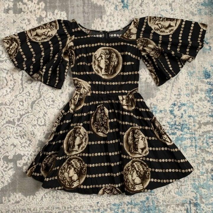 D&G Greek Ancient Coin Print  Dress
