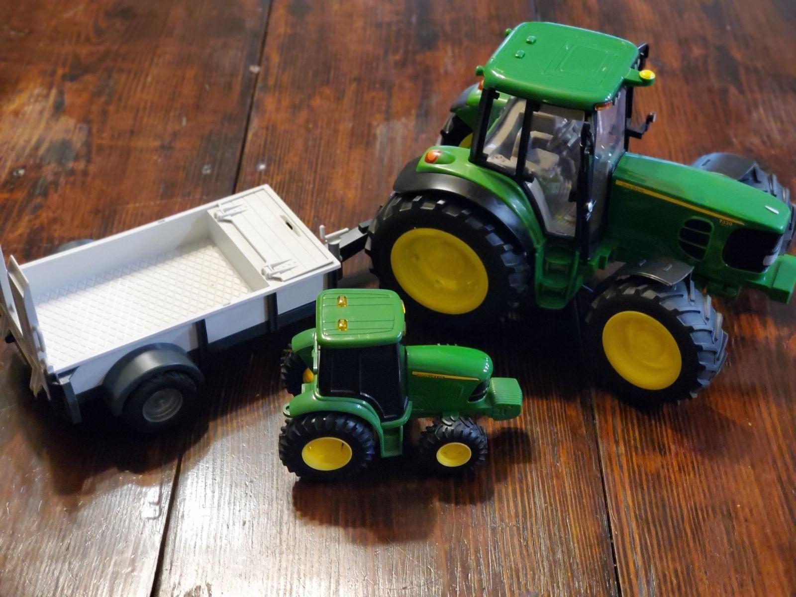 John Deere tractors and trailer