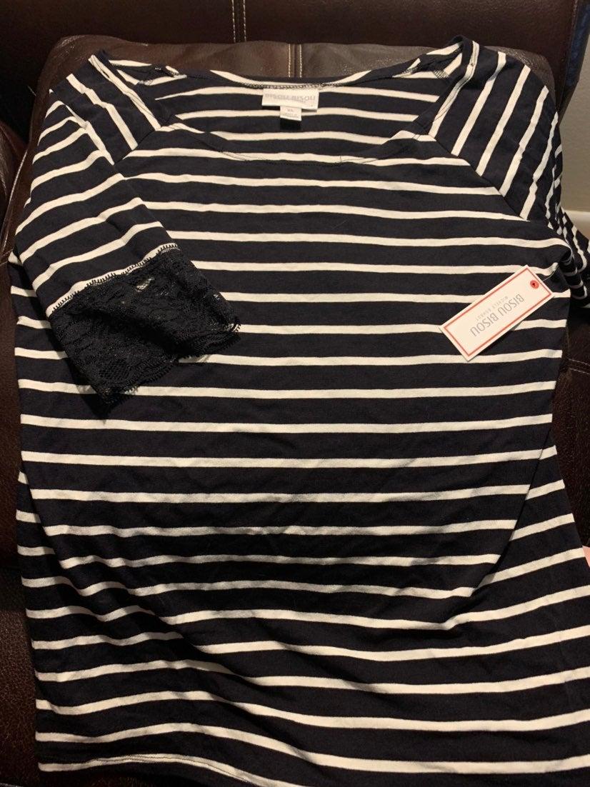 Women's Size xl brand new striped top