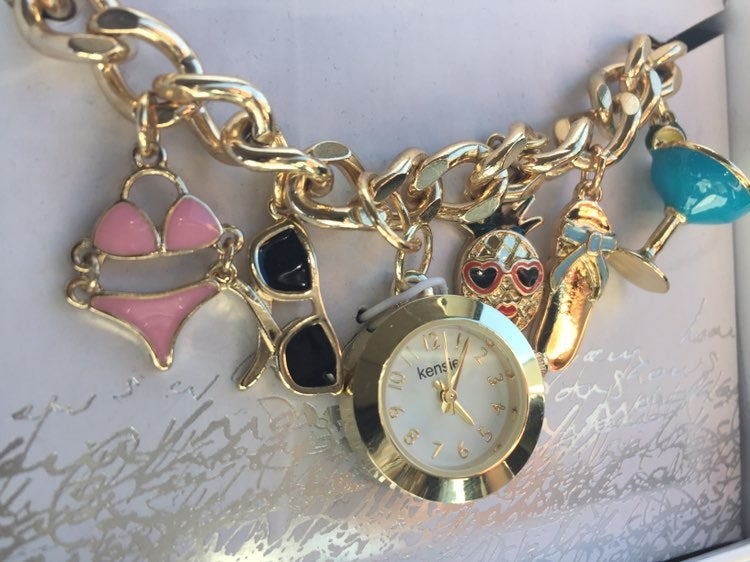Beach Charm Bracelet And Watch KENSIE