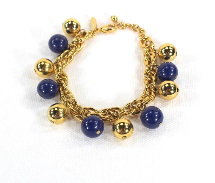 Blue and Gold Bracelet, Talbots