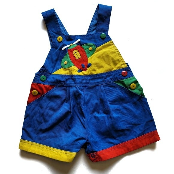 Vintage 1960's Airplane Overalls Shorts