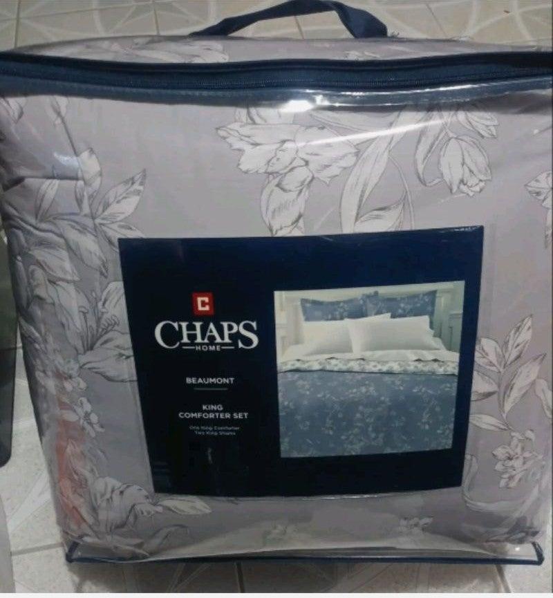 New CHAPS King Comforter Set