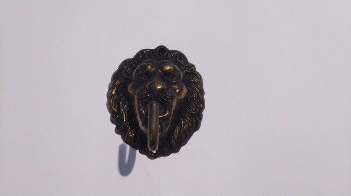 Vintage Lion Brass Coat Hanger