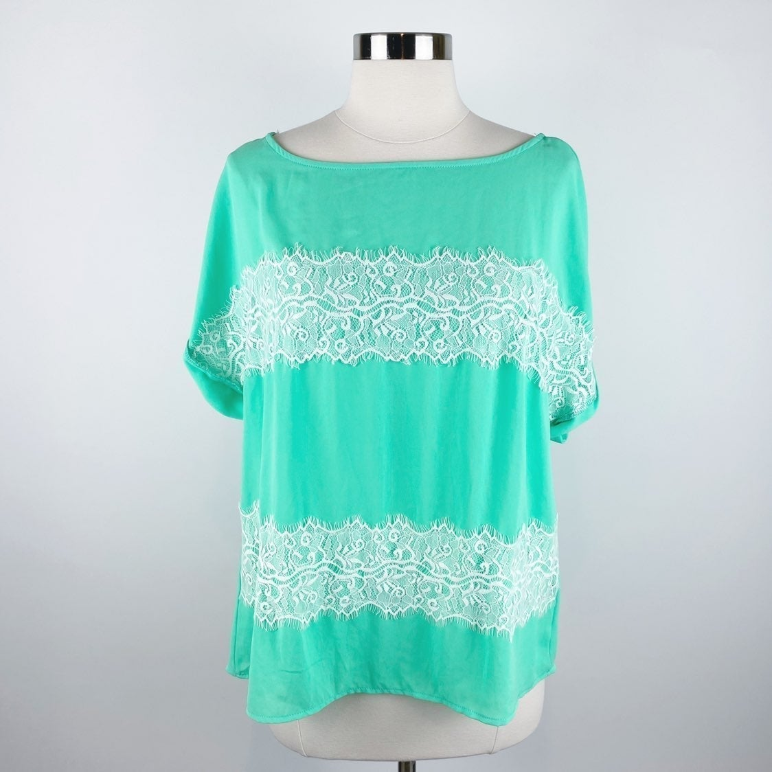 Pink Owl Apparel Green Lace Blouse