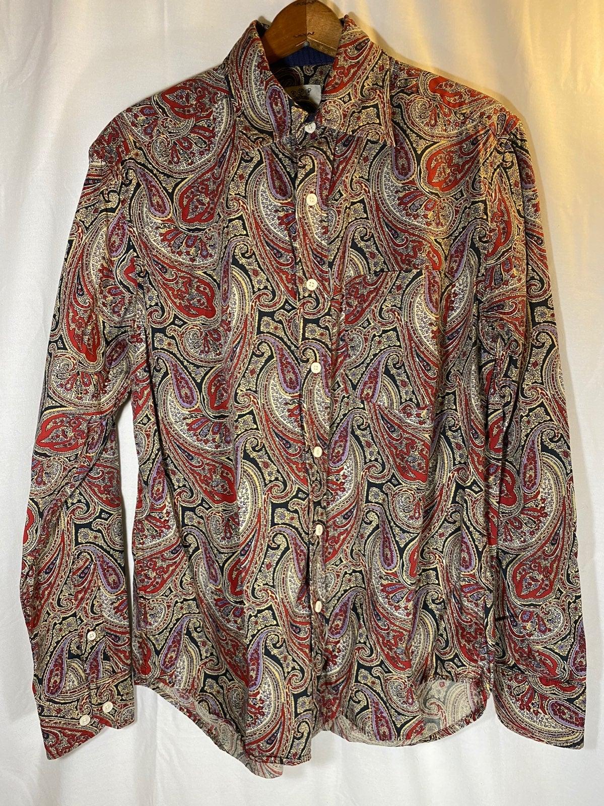 R&G London Robert Graham Paisley Shirt S