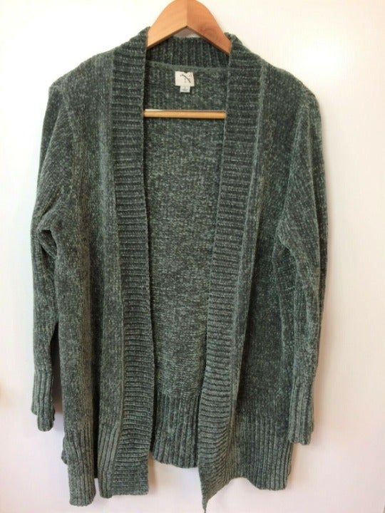 A New Day Olive Green Chenille Cardigan