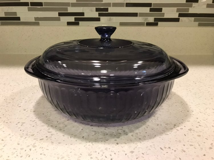 Pyrex Amethyst Casserole Dish and Lid