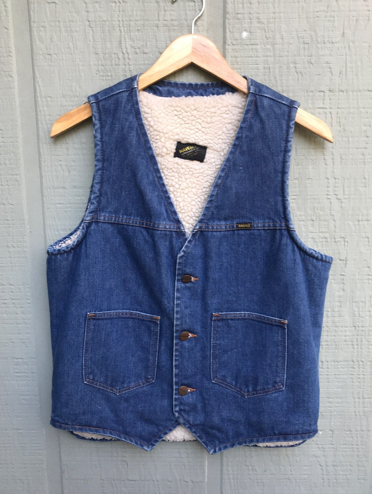Denim Sherpa lined Vest Mavericks Autom