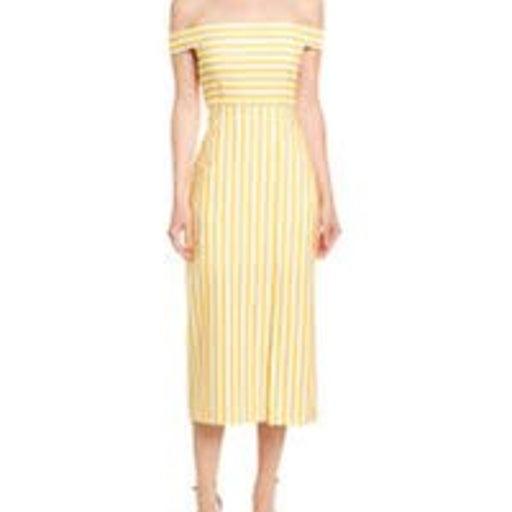 AVEC LES FILLES Striped Midi Dress