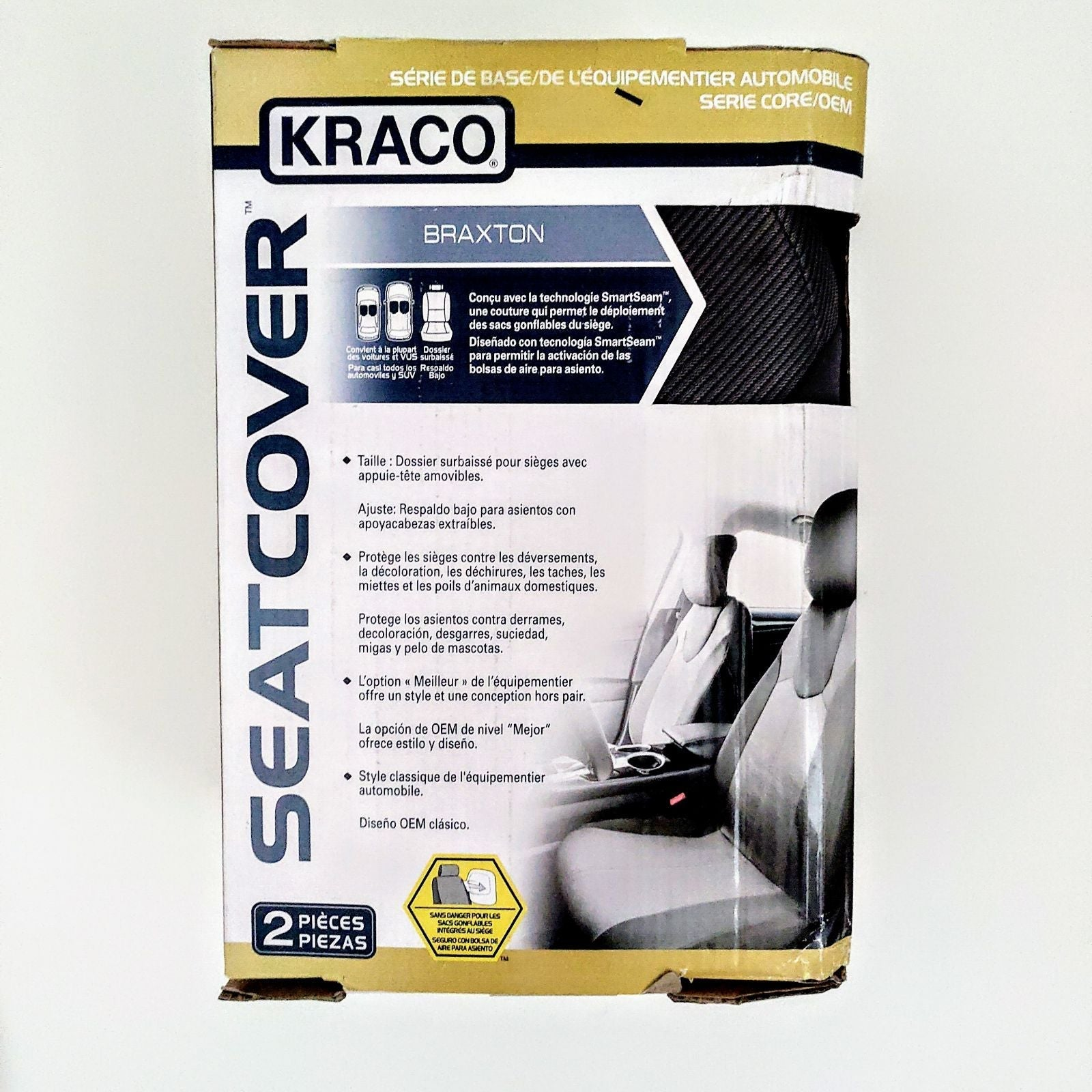 2 KRACO CAR SEAT COVER 2 PIECES BRAXTON