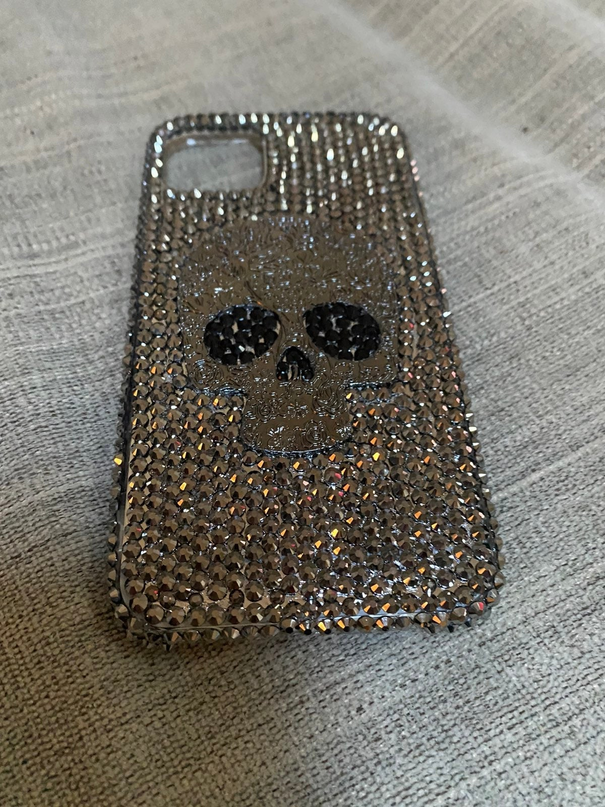 iPhone 11 rhinestone skull bling case