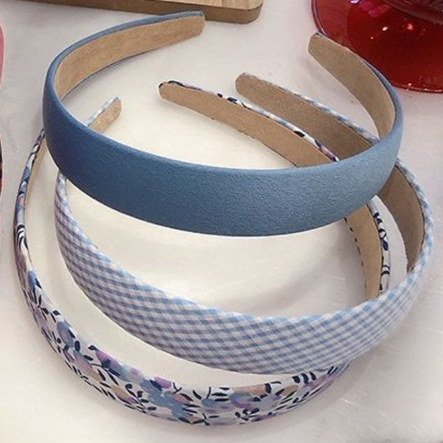 bundle of blue headbands
