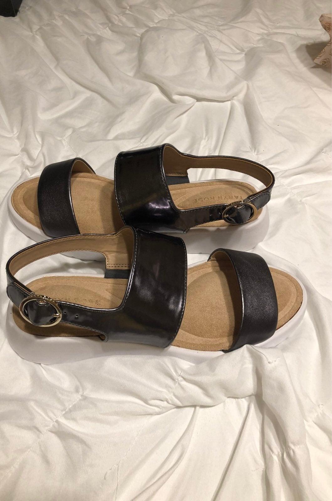 Women's double strap slide sandal