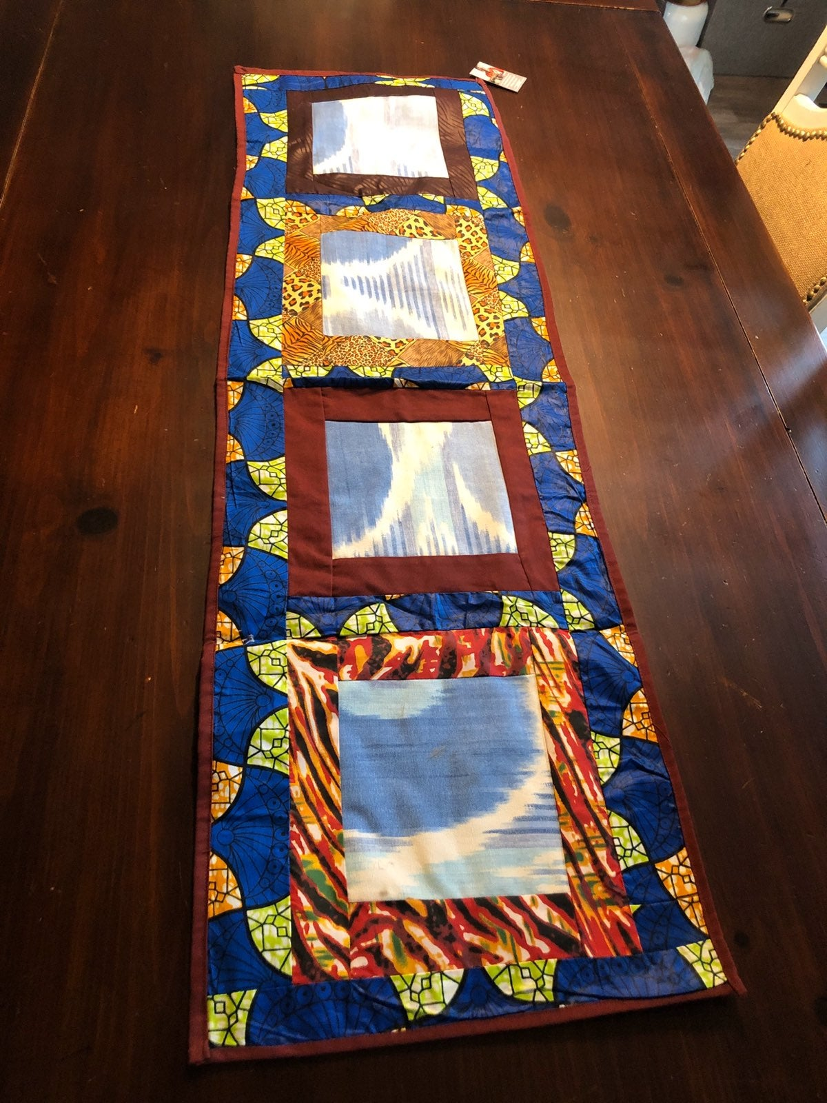 Ugandan Quilted Table Runner