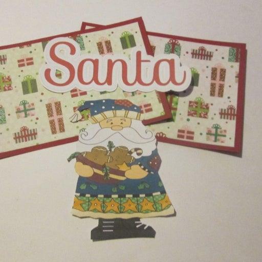 Santa a - Scrapbook or Card Set