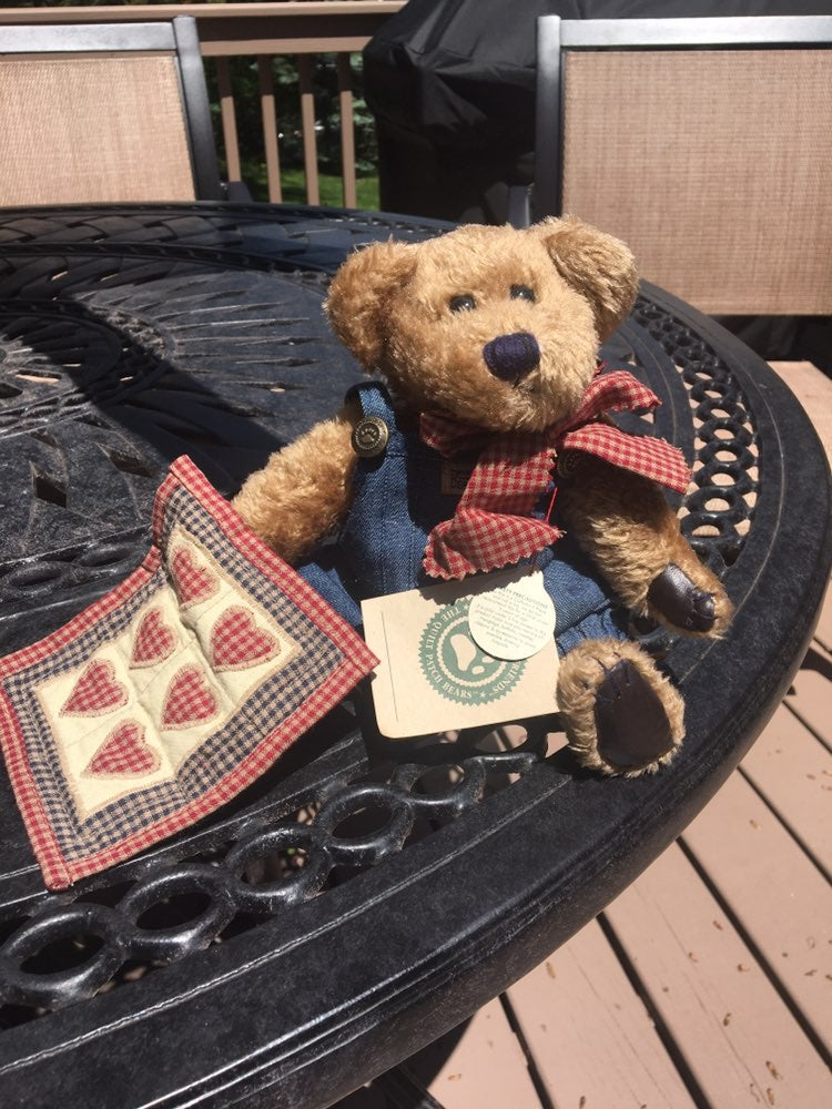boyds bears quilt patch Delbert