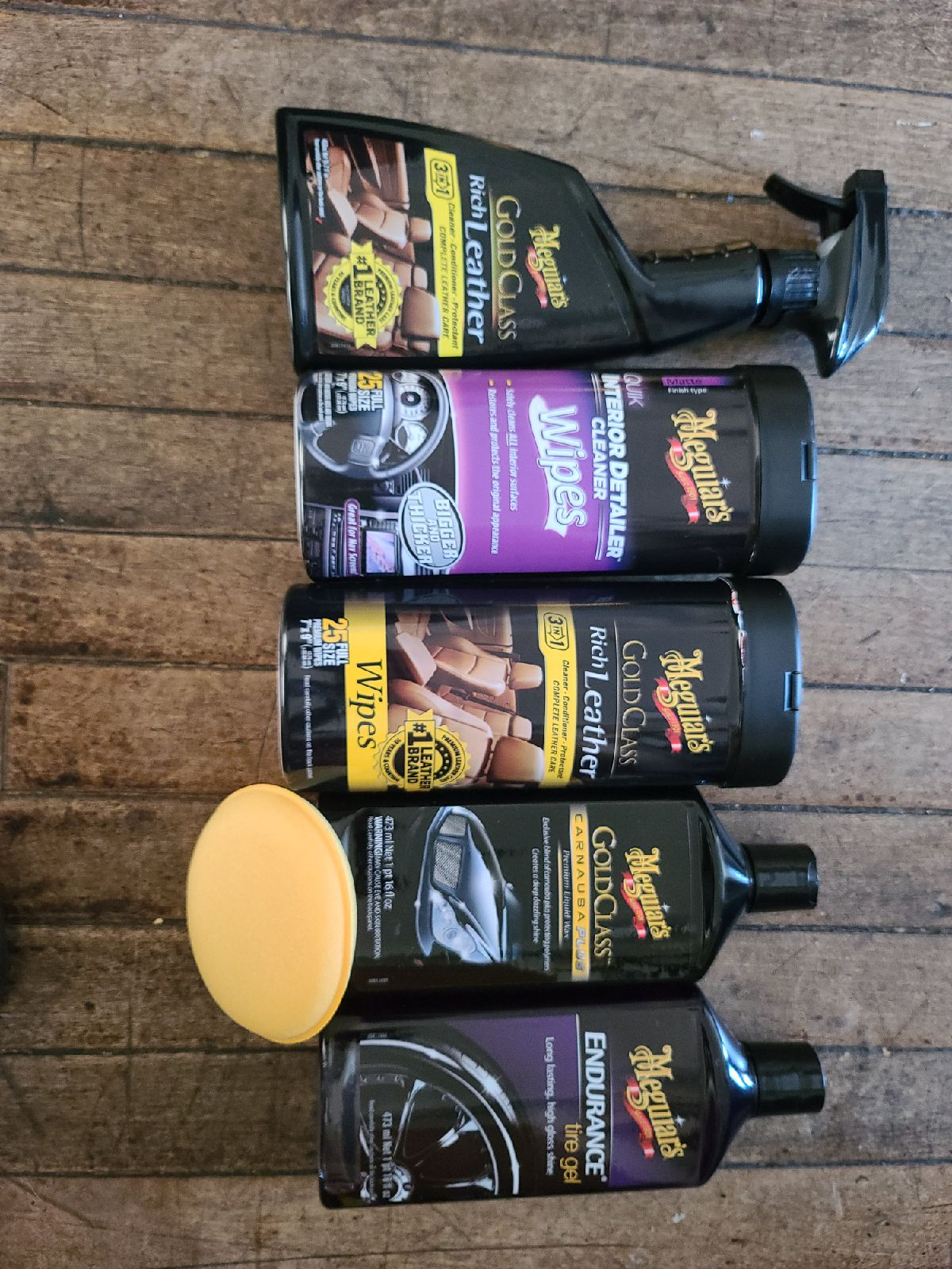 Meguiars leather care car clean up day