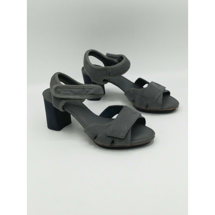 Camper Myriam Leather Sandals Grey 36