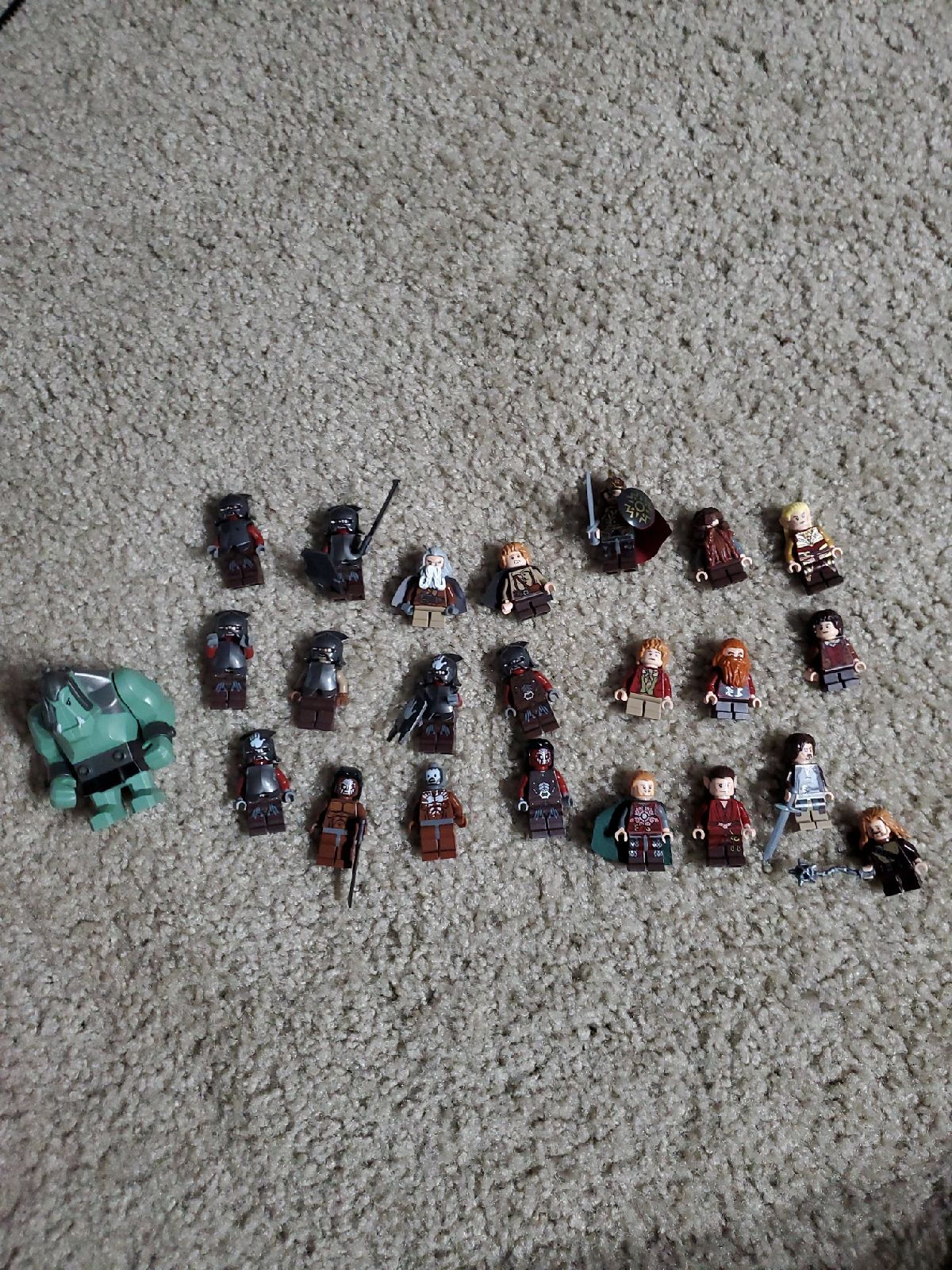 Lot of Lord of rings and The Hobbit Lego