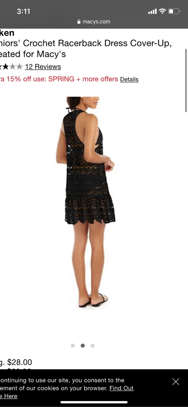 NWT Mike Crochet Lace Dress Cover-up