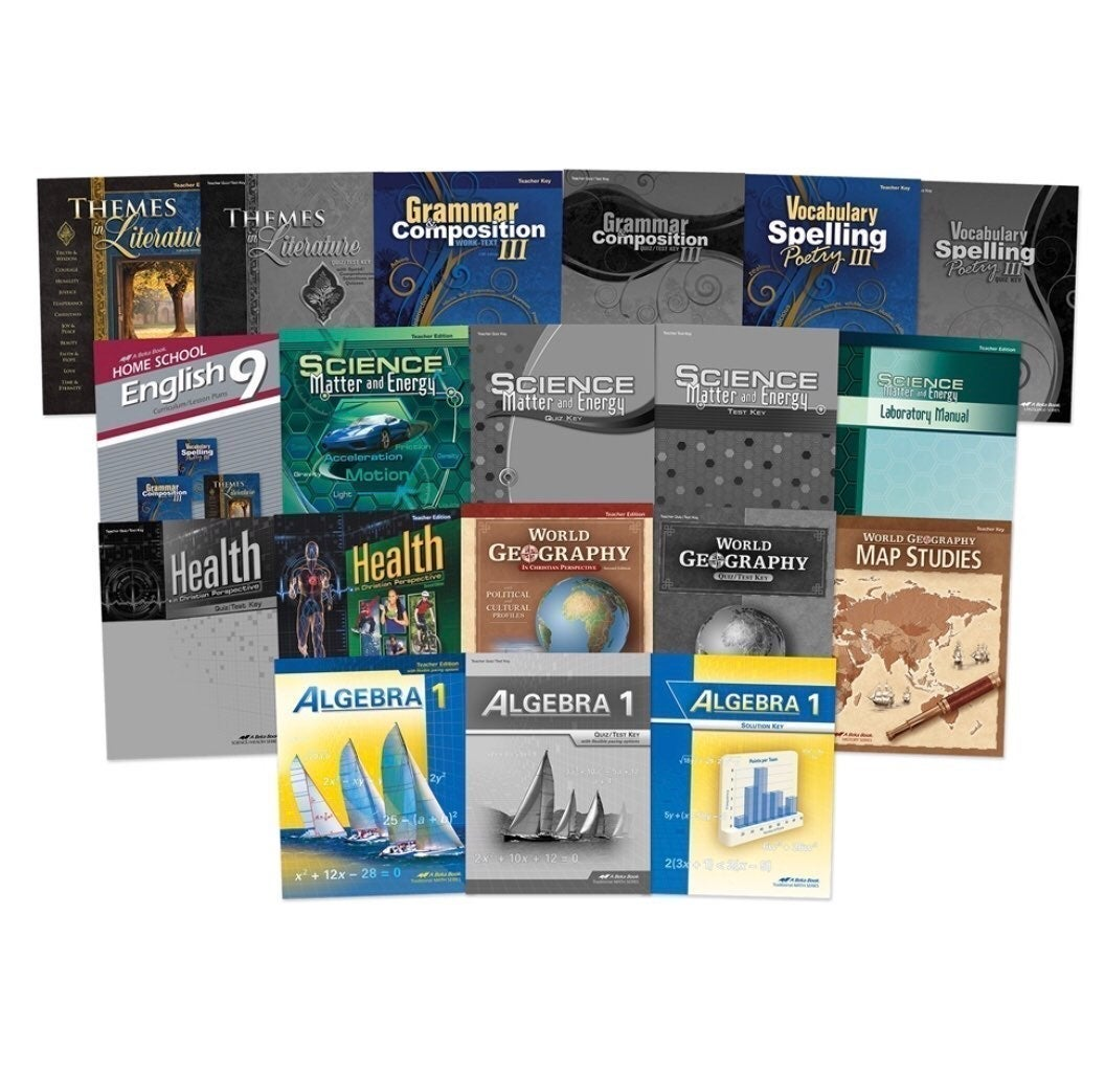 Abeka Academy Grade 9 books Student and