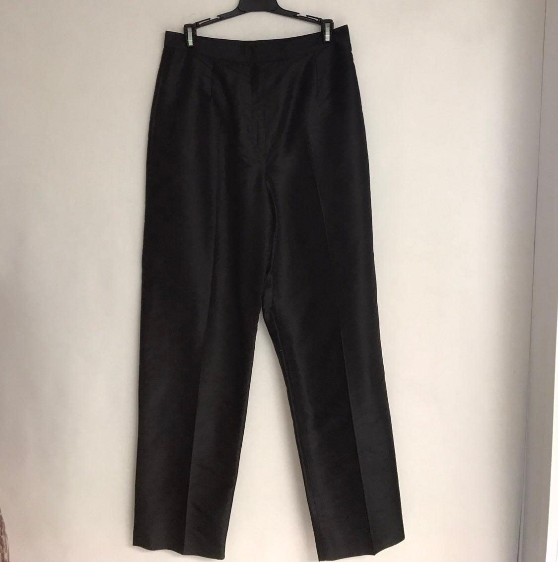 Rafaella Silk Black Pants NWOT