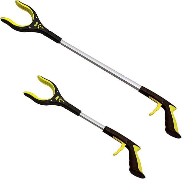 """2Pack 32""""and 19"""" Grabber Reacher with Rotating Jaw, Reaching Assist Tool"""