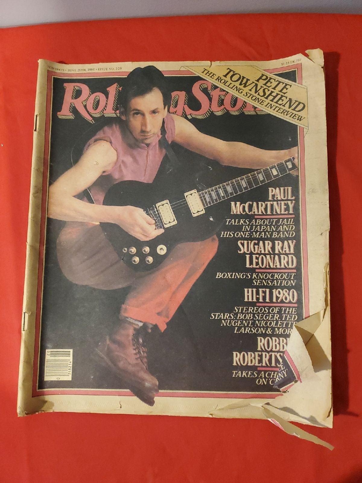 RollingStone Magazine Pete Townsend 1980