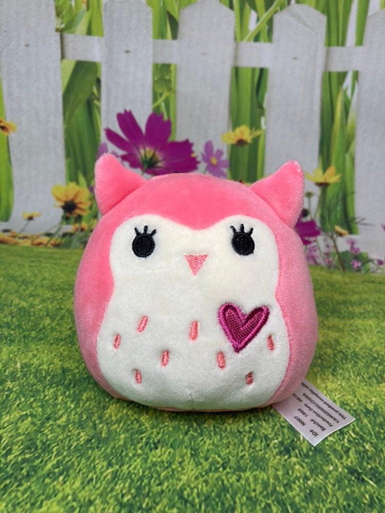 "Squishmallow Pink Owl 5"" RARE HTF"