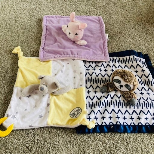 Baby Security blankets bundle&teethers