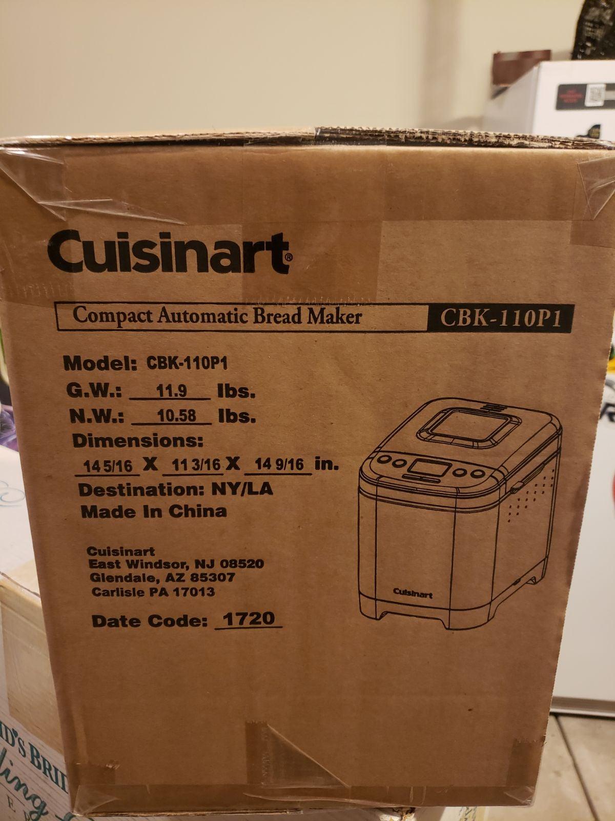 Cuisinart CBK-110P1 Bread Maker