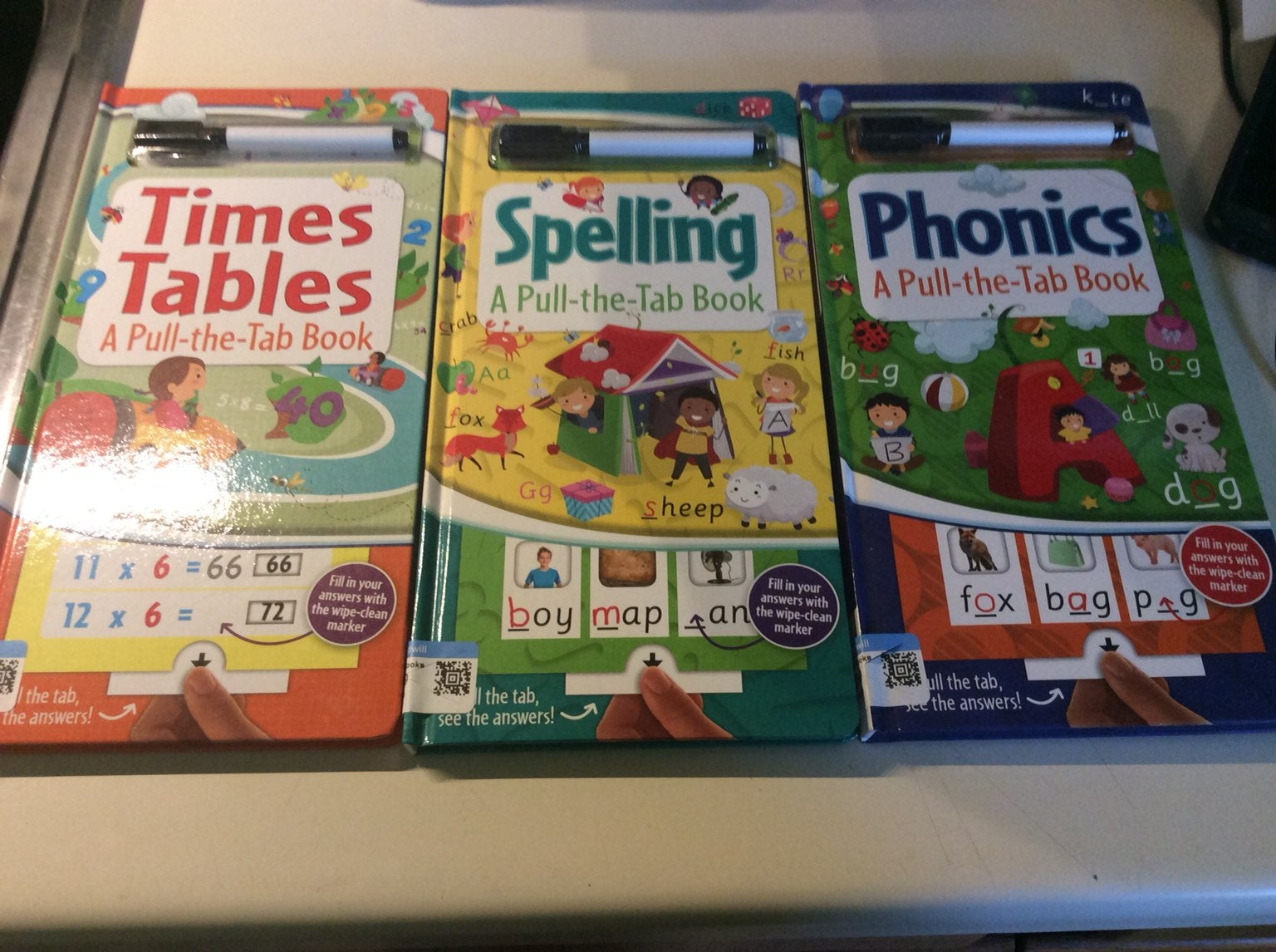 Math, spelling and phonics learning book