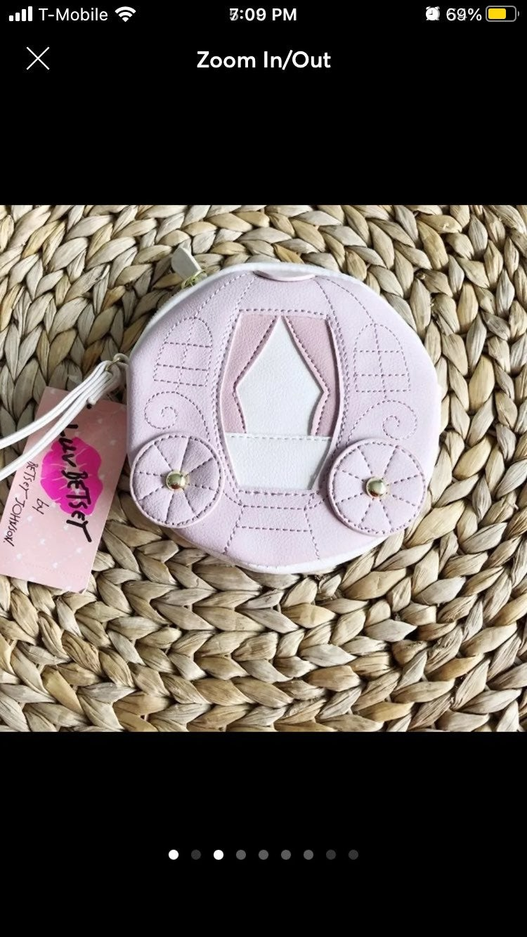 NWT Betsey Johnson Pink Carriage Lrg Coi