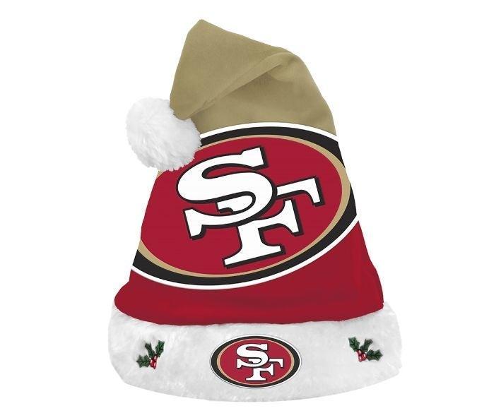 San Francisco 49ers Christmas hat nip