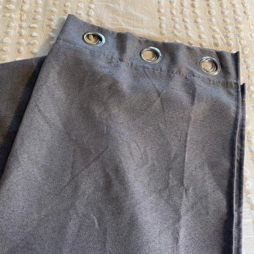 BUNDLE Gray Blackout Curtains LIKE NEW 4