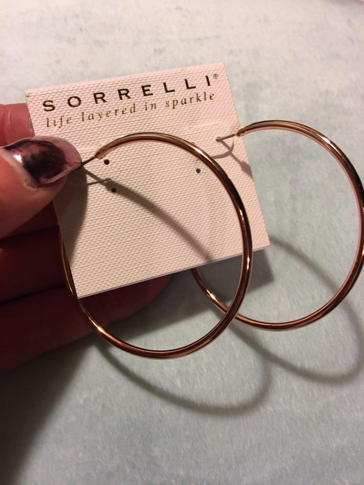 Sorrelli rose gold hoops