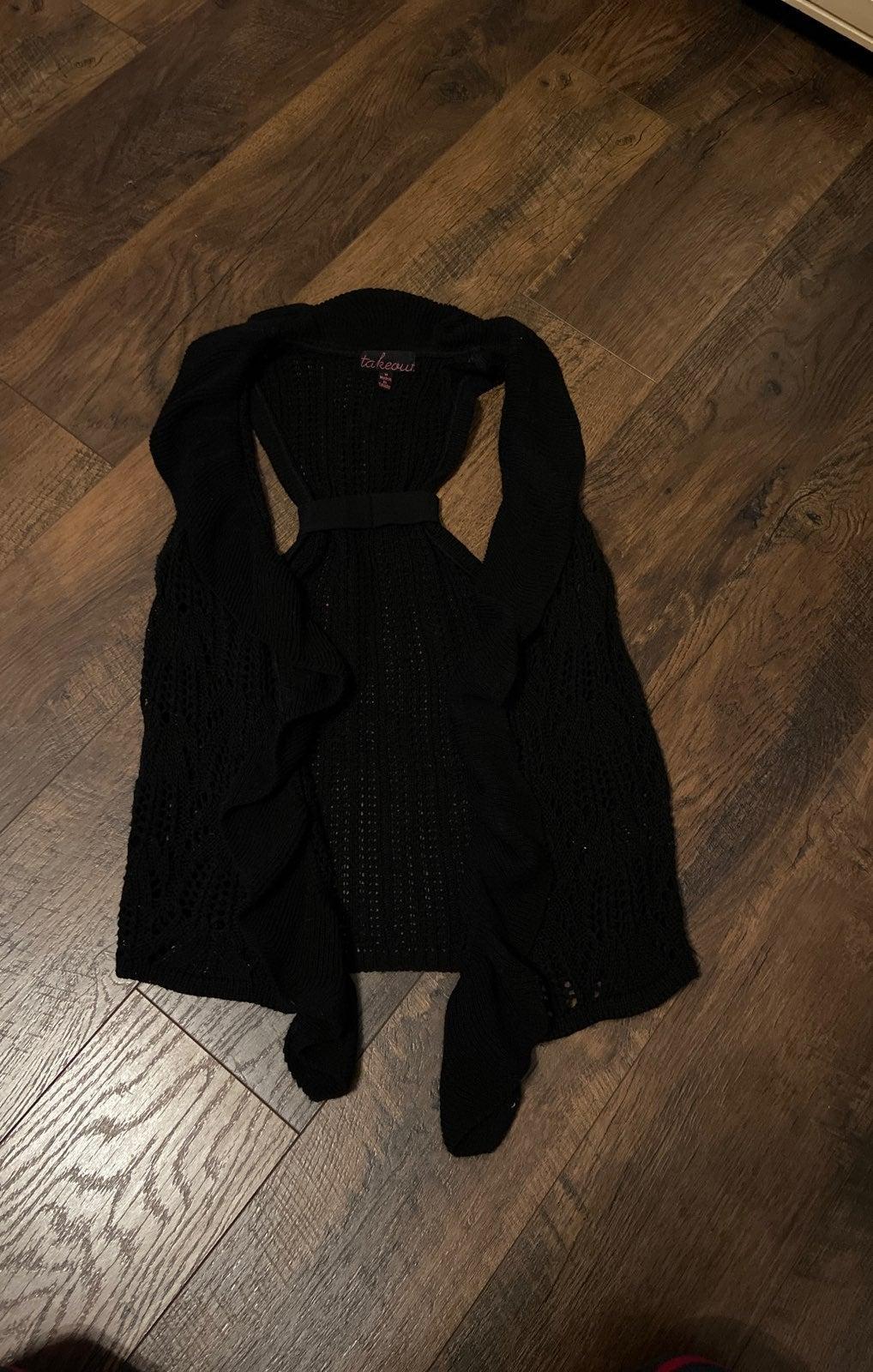 Knit black vest