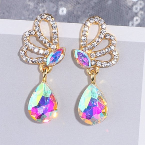 AB Crystal Bridal Prom Pageant Earring