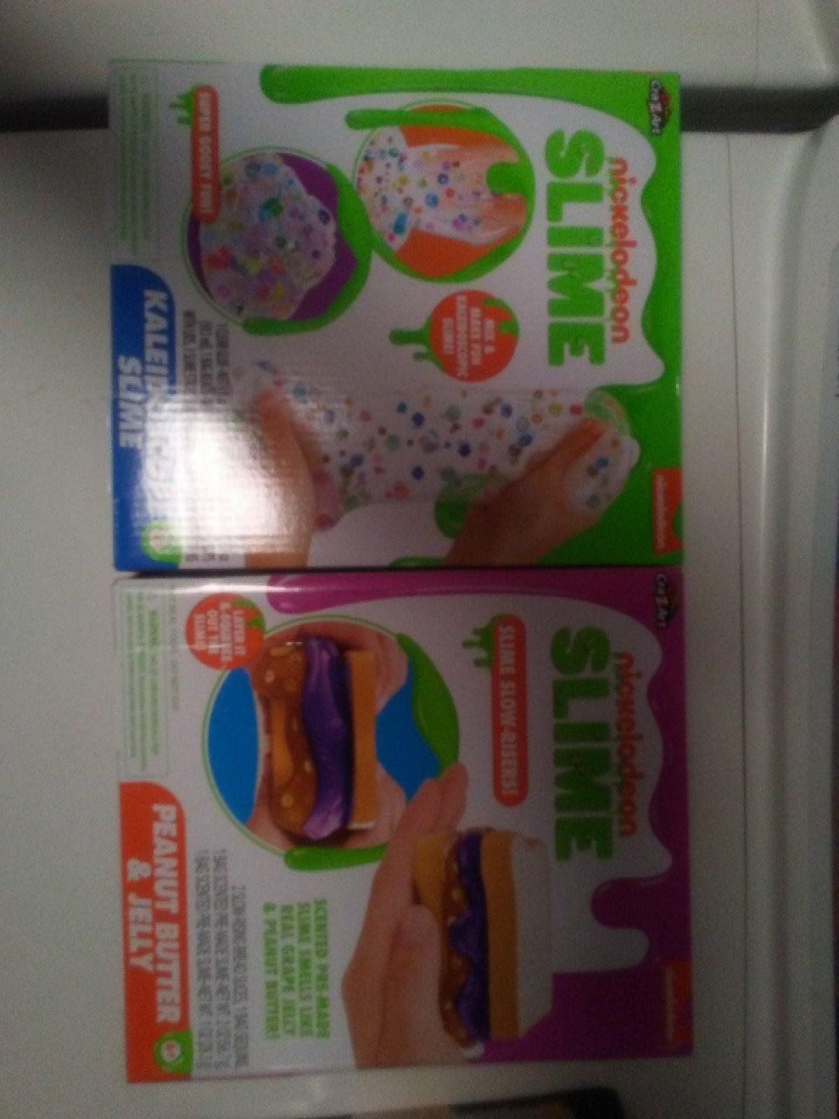 2 Brand New Nickelodeon Slime Kits