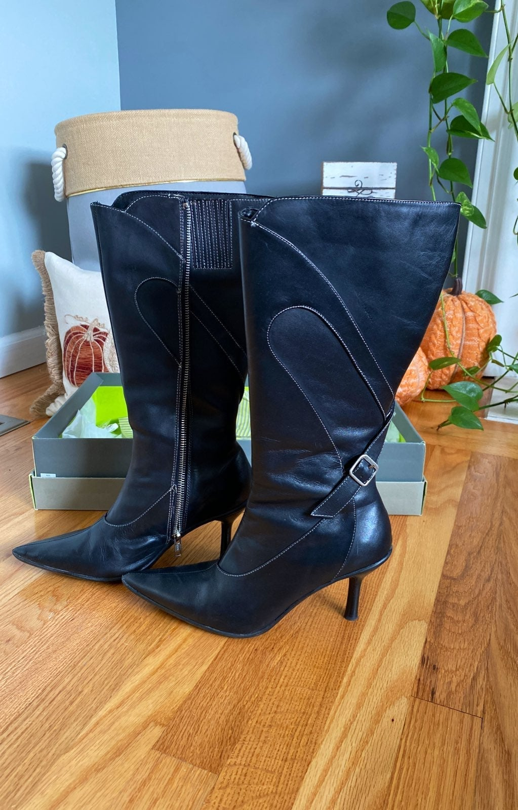 Kenneth Cole Leather Boots Size 7.5