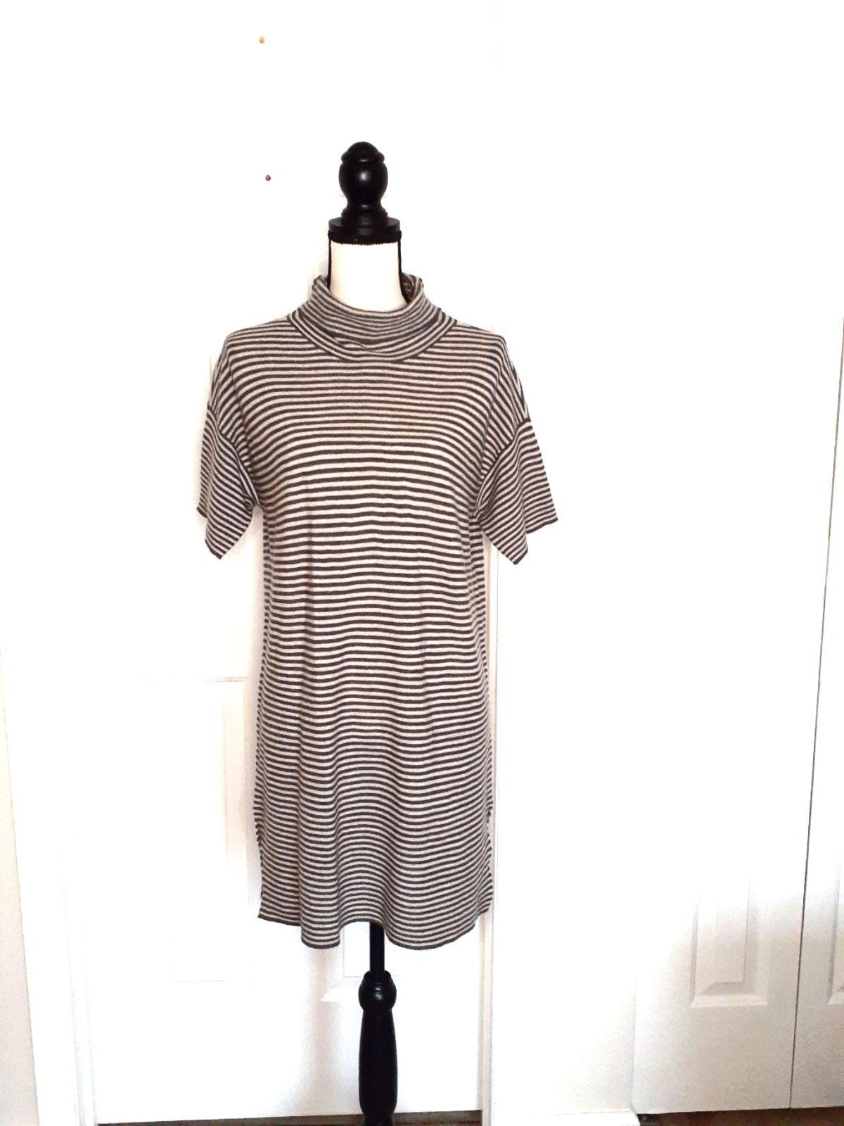 Eileen Fisher Striped Turtleneck Dress
