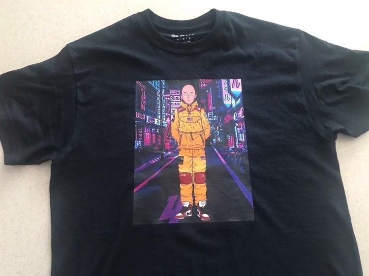 Custom One Punch Man Saitama T-shirt Med