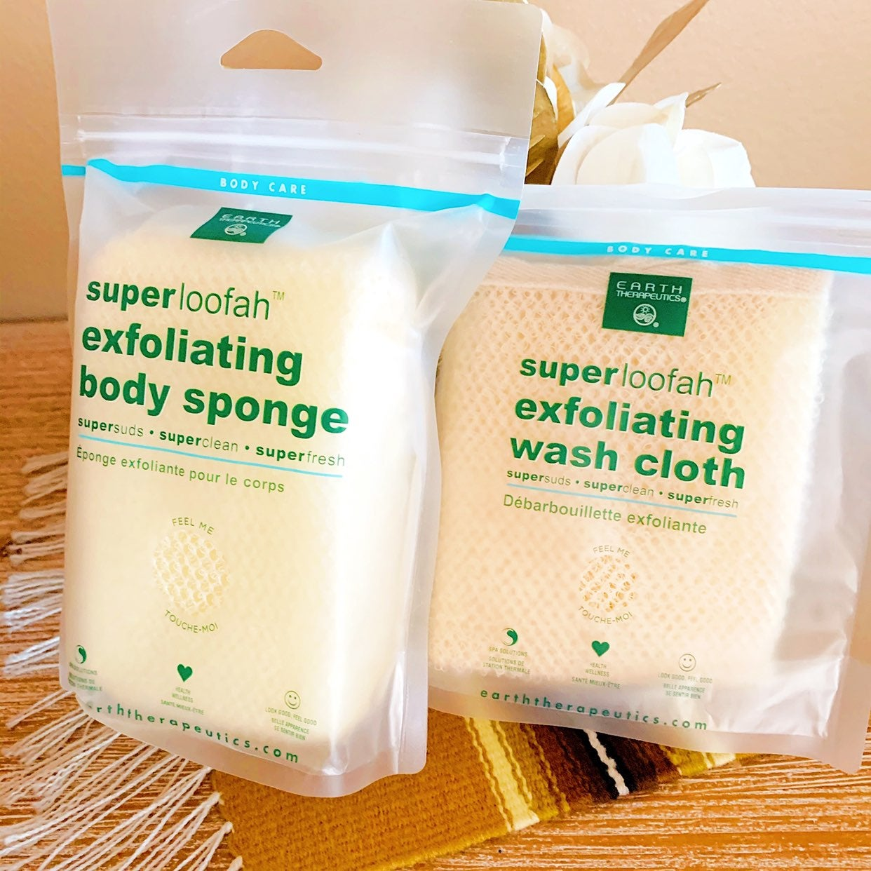 New Exfoliating Wash Cloth & Sponge