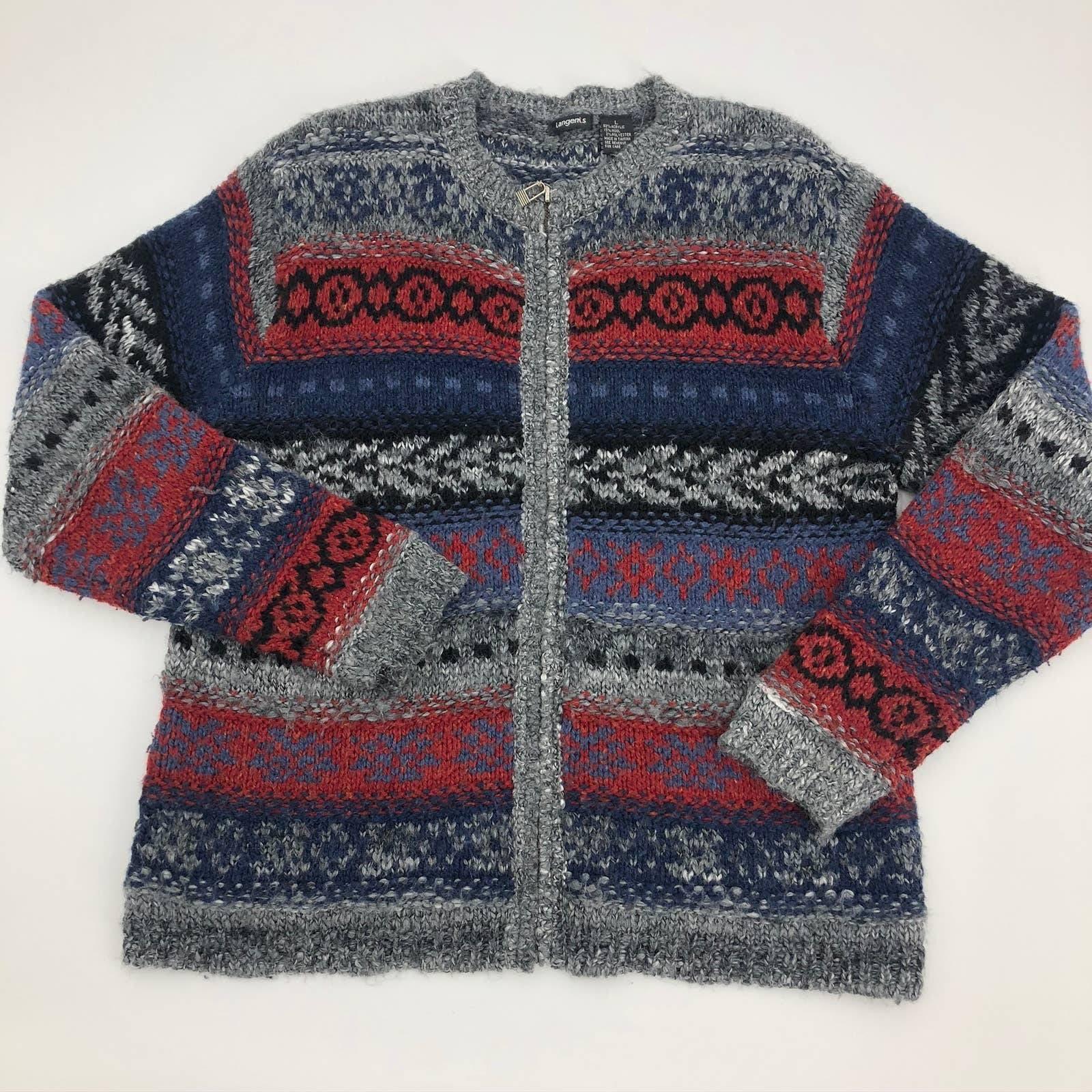 Tangents Large Zip Cardigan Wool Blend