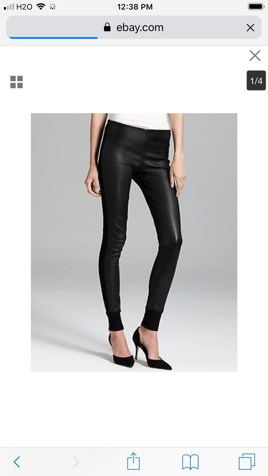 VINCE STRETCH LEATHER PANT, $1175, M