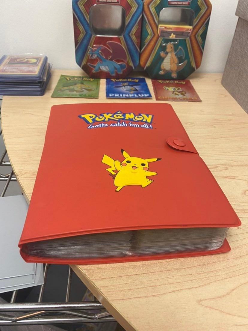 vintage pikachu binder 200 pokemon cards