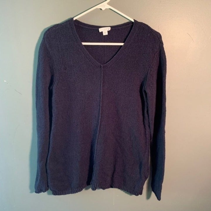 Purejill J Jill V-Neck Sweater Navy Blue