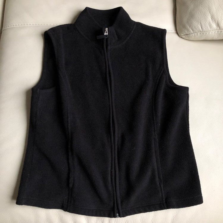 Karen Scott Fleece Vest, Small