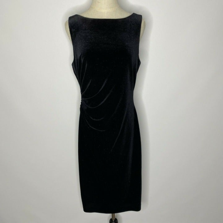 Donna Ricco Sheath Dress Womens 10 Black